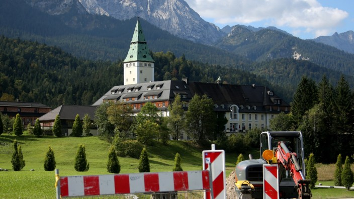 Umbauarbeiten Schloss Elmau
