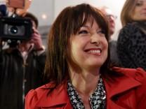 Gabriele Pauli bei der Bürgermeisterwahl in der Gemeinde Sylt