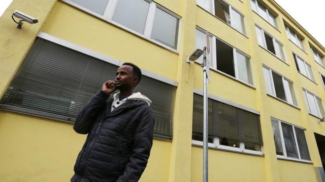 Flüchtlinge in München Flüchtlingsunterkunft in München
