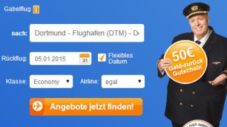 Screenshots Buchungsprozess auf Fluege.de