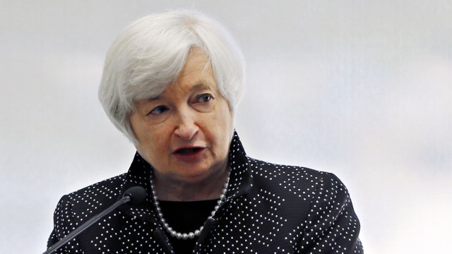 File photo of U.S. Federal Reserve Chair Yellen speaking in Boston