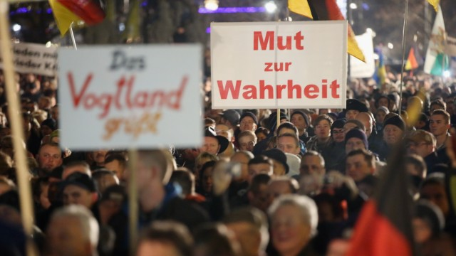 Pegida Demonstrations Continue In Dresden