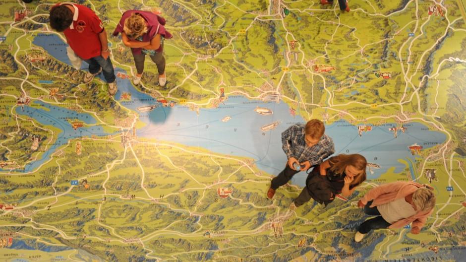 Bodenseekarte in Konstanz