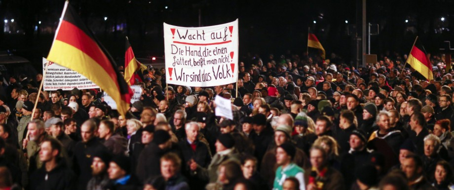 Pegida-Demonstration in Dresden