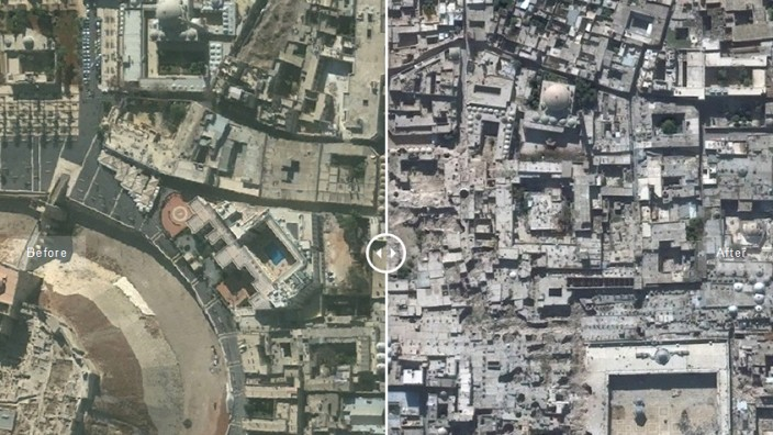 Syrien Satellitenbilder UNITAR Syria