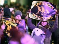 Anit-Pegida-Kundgebung in Dresden