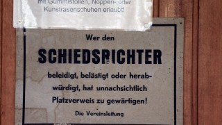 Muenchen: Bezirkssportanlage Lerchenau / Reportage AGGRESSION AUF DEM Fussballplatz