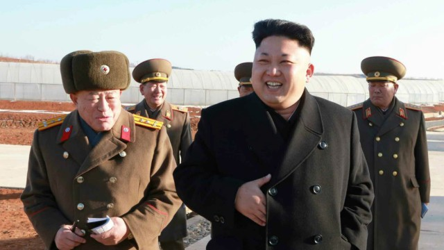 Kim Jong-un at greenhouse for vegetables