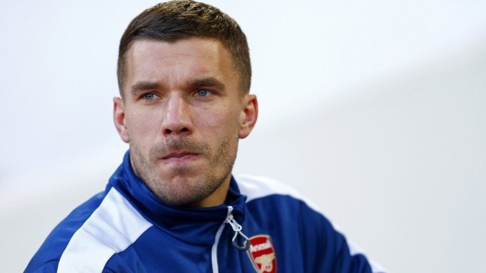 Lukas Podolski West Ham United v Arsenal - Premier League