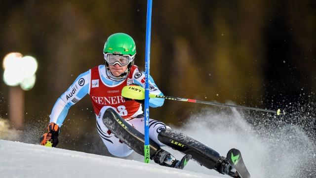 14 12 2014 Olympia Course Are SWE FIS Weltcup Ski Alpin Are Slalom Herren 1 Lauf im Bild L; Linus Strasser, München, TSV 1860 München