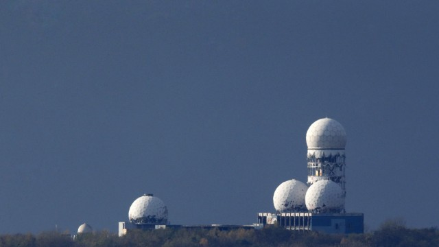 File photo shows antennas of the former NSA listening station at the Teufelsberg hill, or Devil's Mountain, in Berlin