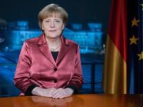 Neujahrsansprache von Bundeskanzlerin Merkel