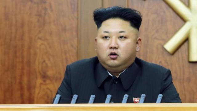 North Korean leader Kim Jong Un delivers a New Year's address