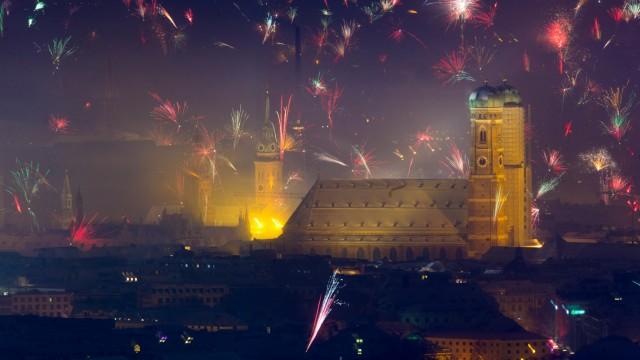 Jahreswechsel 2015 - München - Blick vom Olympiaturm