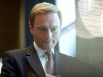 Chairman of the FDP Christian Lindner arrives at a meeting of party leaders in Berlin
