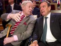 Helmut Schmidt, Gerhard Schröder
