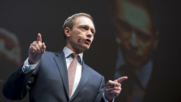 Partei-Chef Christian Lindner beim Dreikönigstreffen der FDP