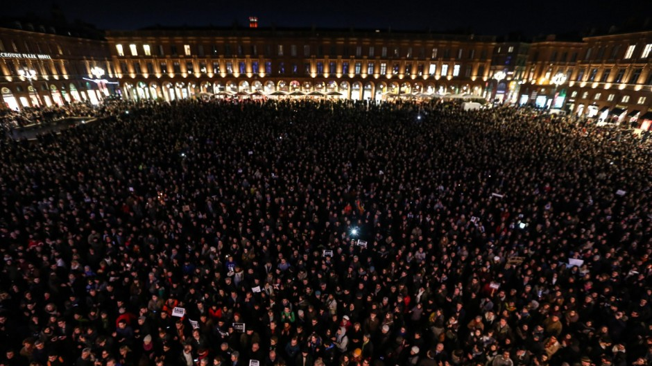 'Charlie Hebdo'-Demonstration in Toulouse