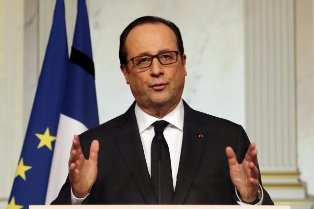 Francois Hollande addresses the nation