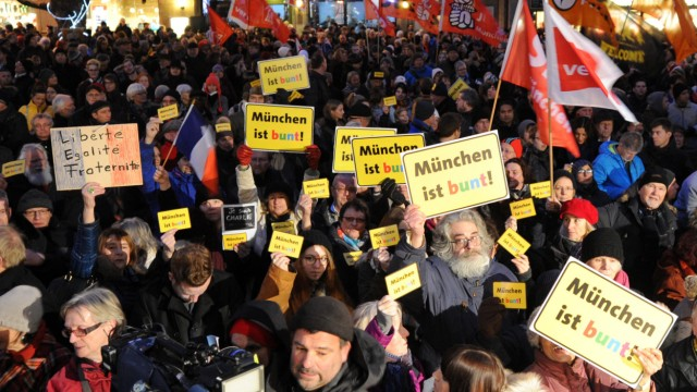 "Protest gegen Demo der Anti-Islam-Bewegung ""Bagida"" in München"