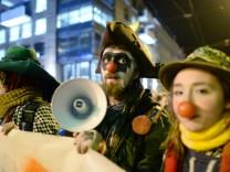 Protest gegen Demo der Anti-Islam-Bewegung 'Legida' in Leipzig