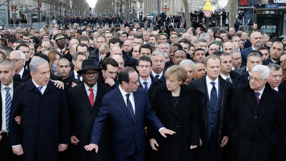 Anschlag auf Charlie Hebdo Bild von Kundgebung in Paris