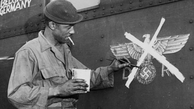 Zweiter Weltkrieg: Schwarzer Angehöriger der US-Armee Reichsbahn