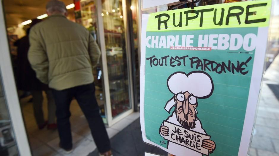 Anschlag auf Charlie Hebdo Verkaufsstart in Frankreich