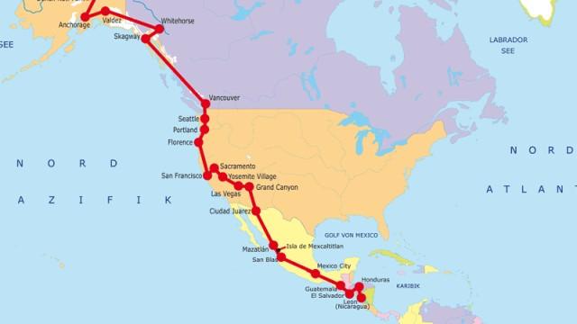 Südamerika Amerika, der Länge nach (XXI)