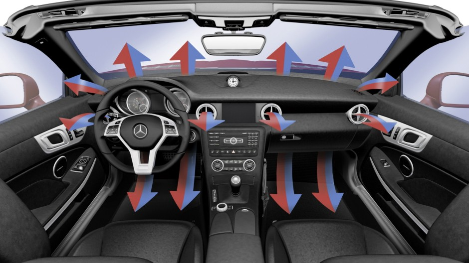 Die Klimaanlage des Mercedes SLK.