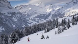 Snow on Fanenstock mountain