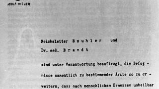 Anweisung Hitlers zur Euthanasie, 1939