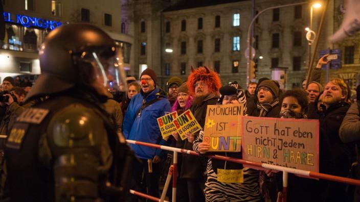 Demonstration gegen Bagida