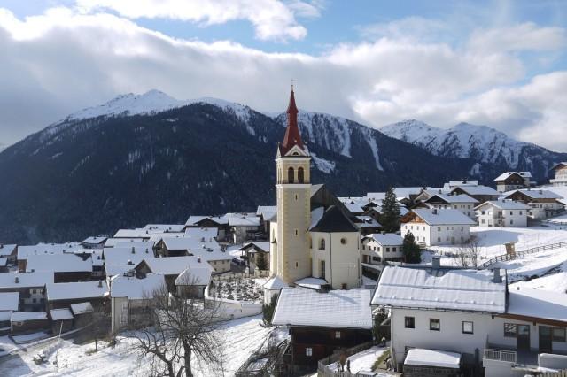 """Drehort für den neuen James Bond Film """"Spectre"""" mit Daniel Craig, Obertilliach, Österreich"""