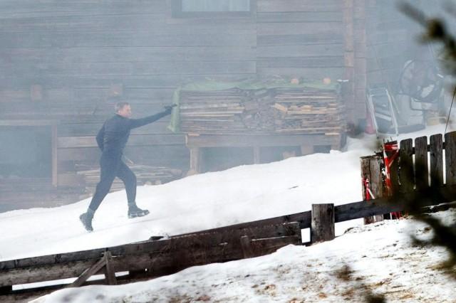 """Daniel Craig am Set vom James-Bond-Film """"Spectre"""" in Österreich"""