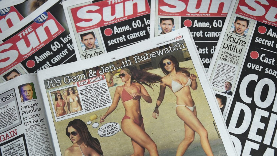 The Sun drops it page 3 after 44 years