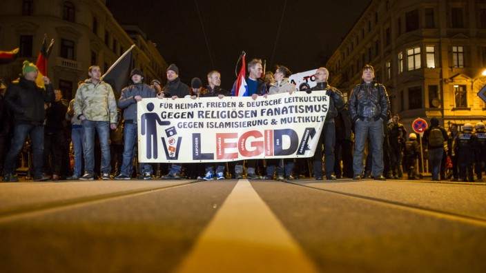 Pegida Holds First March In Leipzig