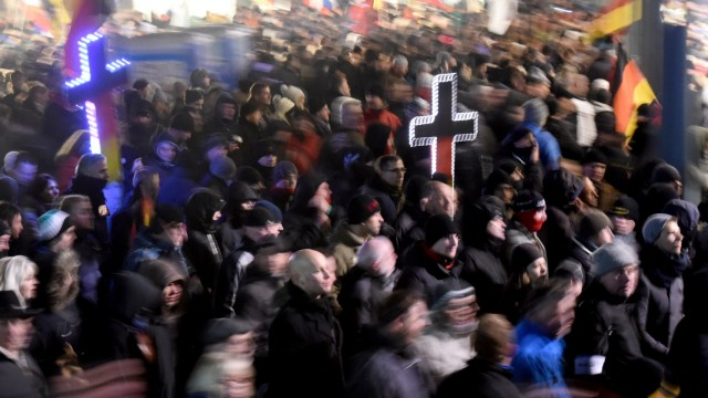 Demonstration der islamkritischen Bewegung Legida in Leipzig
