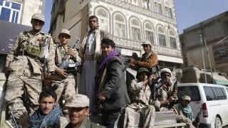 Huthi-Kämpfer in Sanaa
