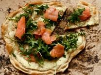 """Foodblog """"Kochnische"""": Flammkuchen mit Lachs und Rucola"""