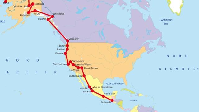 Amerika, der Länge nach (XVIII)