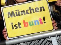 Protest gegen islamkritische Bewegung in München