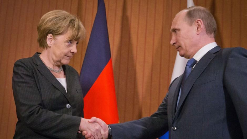 Merkel trifft Putin