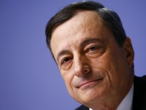 European Central Bank President Draghi addresses ECB news conference in Frankfurt