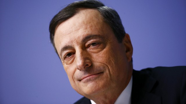 European Central Bank President Draghi addresses ECB news conference in Frankfurt