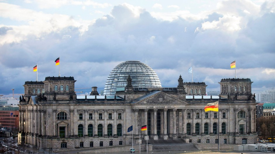 A general view of the Reichstag building in Berlin