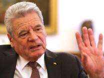 Bundespräsident Joachim Gauck im Interview