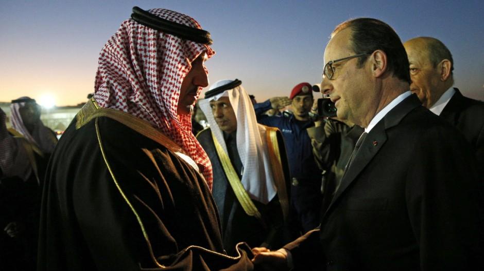 Francois Hollande, Turki bin Abdullah al-Saud