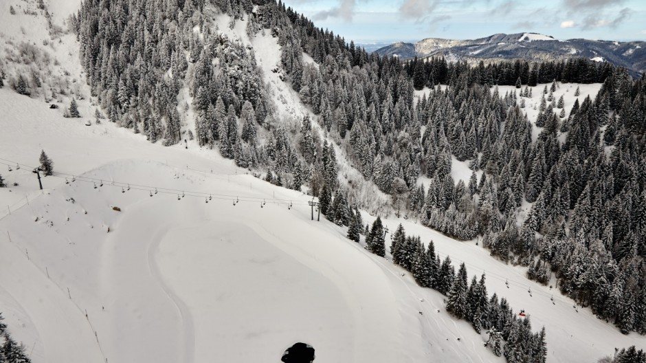 Speichersee Brauneck Schneekanonen