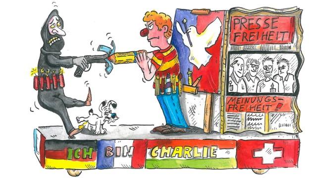 Anschlag auf Charlie Hebdo Kölner Karneval